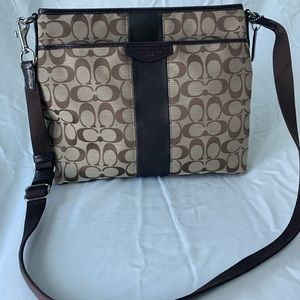 Coach Signature Crossbody w/ matching wallet